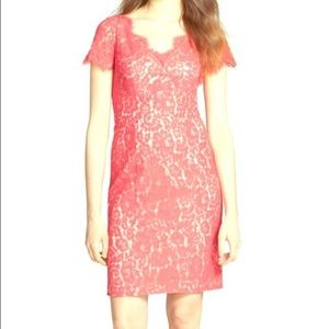 Eliza J Coral Lace Dress
